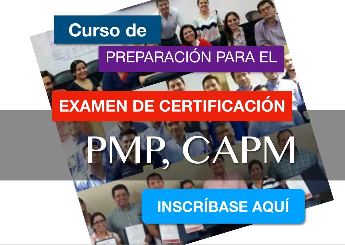 Curso de Preparación para el Examen de Certificación PMP, CAPM con el método RT Fast Tracking.